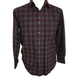 SIR PENDLETON Mens 100% Virgin Wool Long Sleeve
